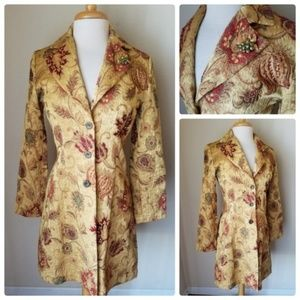 Vintage Cabi Fall Print Tapestry Coat